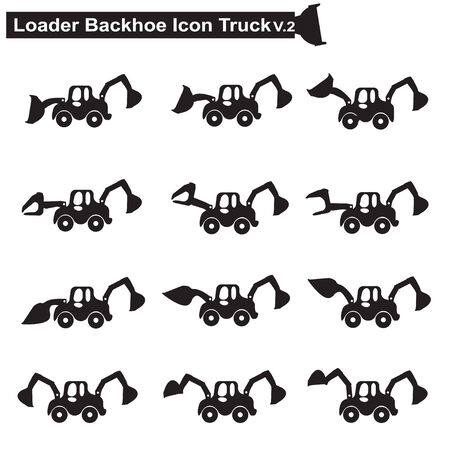 machines: Construction machines truck icon Illustration