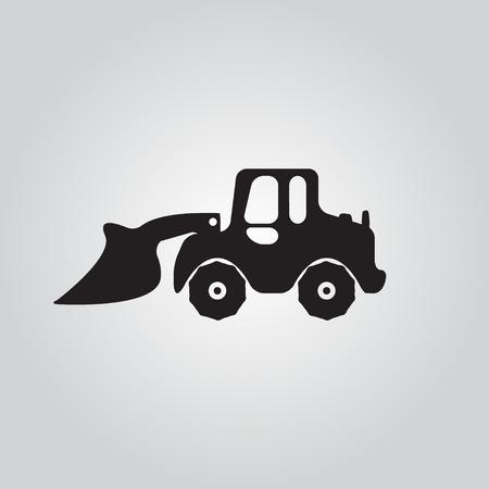 dredging tools: Truck  icon Motorgrader show Illustration