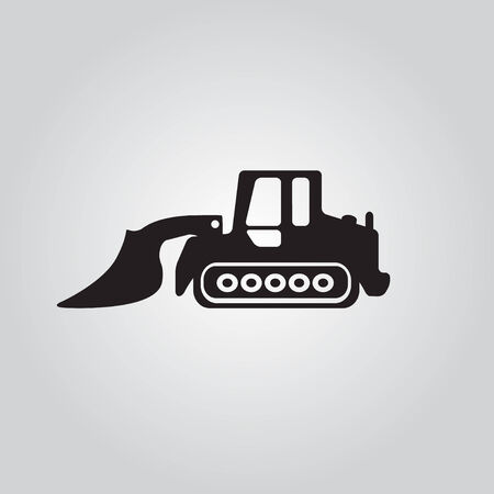 dredging tools: Truck  icon Motorgrader show Illustration
