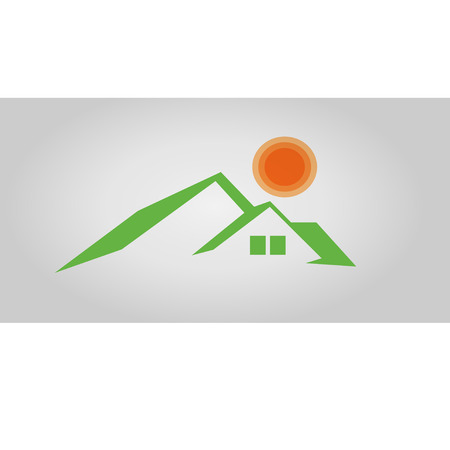 real estate house: Home Real Estate logo design Illustration