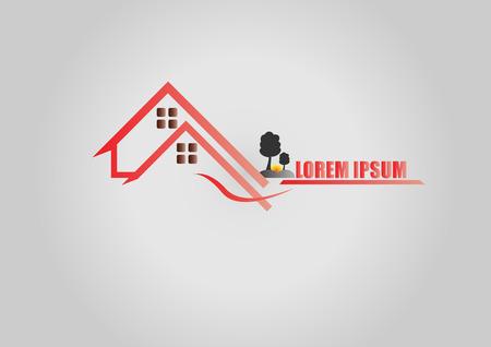 logo batiment: Maison logo ou icône