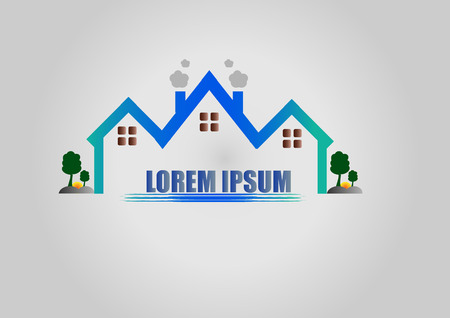 building lot: House logo or icon Illustration