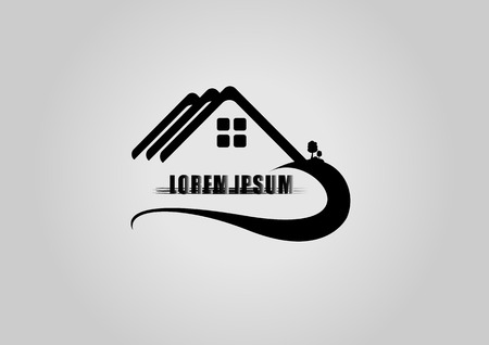 apartment house: House logo or icon Illustration