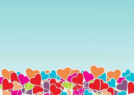 marriage bed: Vector  Heart  Valentines   background Illustration