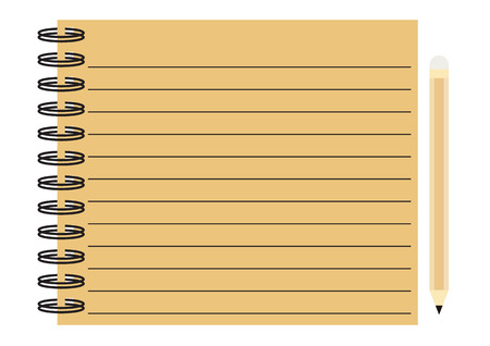 old diary: notebook pencil