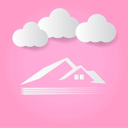 dream land: house cloud pink