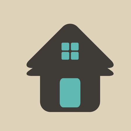 building lot: Vintage House Real Estate icon design