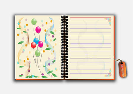 old diary: Open notebook
