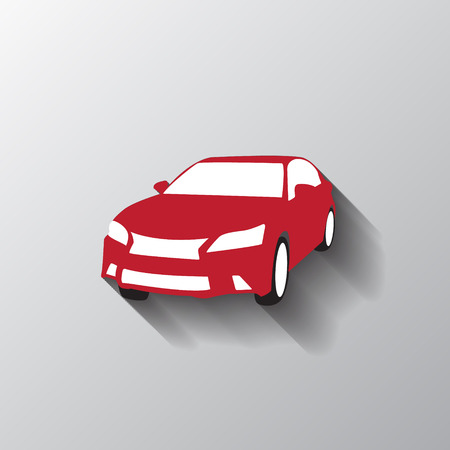 blend: Car red icon logo symbol -  use blend hadow -  vector illustration Illustration