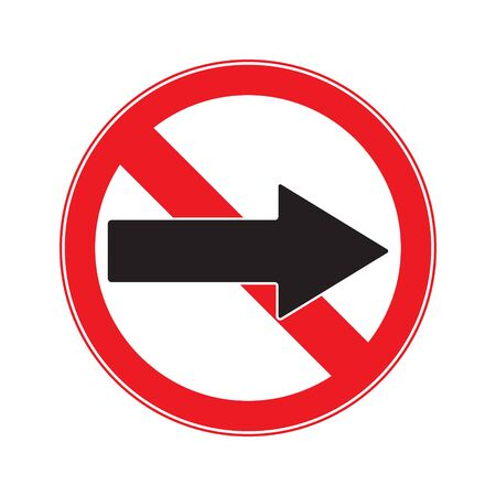 motorist: No Turn Right  Sign