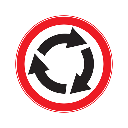 motorist: No roundabout ahesd Illustration