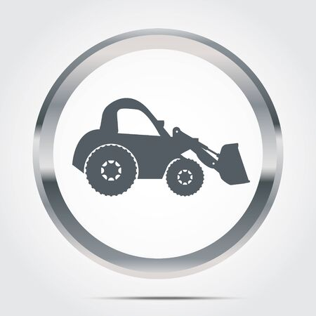 dozer: Wheel Dozer  Icon  , vector Illustration