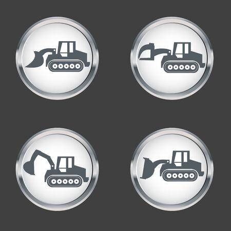 crawler: Crawler Dozer  Icon set , vector Illustration Illustration