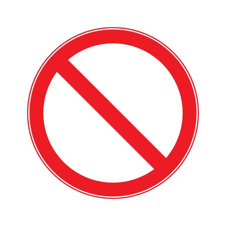 一時停止の標識。エントリの符号ベクトル  イラスト・ベクター素材