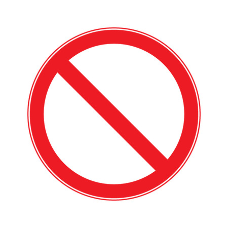 no entry sign: Stop Sign . No entry  Sign Vector Illustration