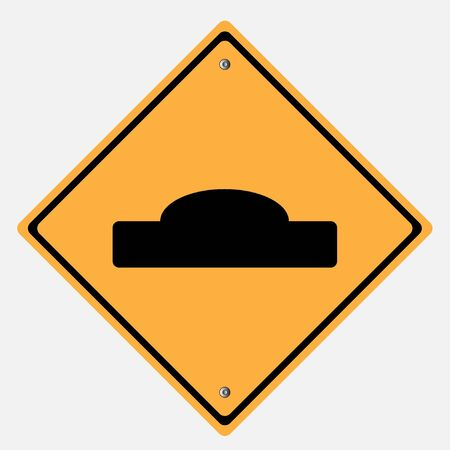 rough road: Traffic sign . hump or rough road Illustration