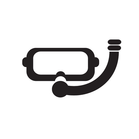 diving mask: Diving Mask Goggles  icon logo design .  Silhouette Diving Mask Goggles . vector illustration
