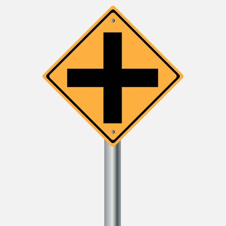 traffic pole: Traffic sign . Cross Illustration