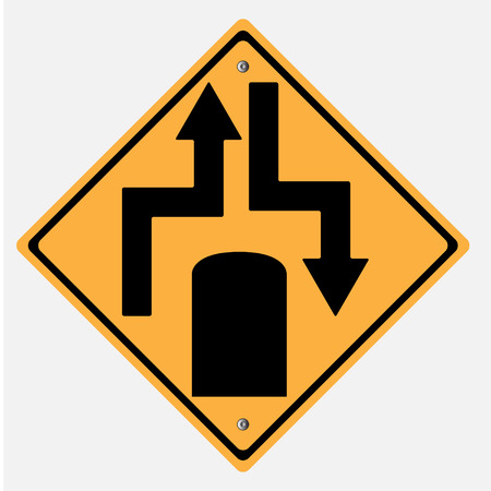 motorist: Traffic sign . highway end Illustration