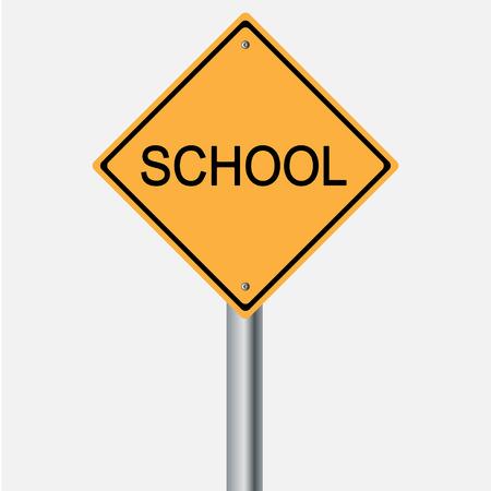 traffic pole: Traffic sign . school  warning sign Illustration
