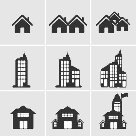 woningbouw pictogram Stock Illustratie