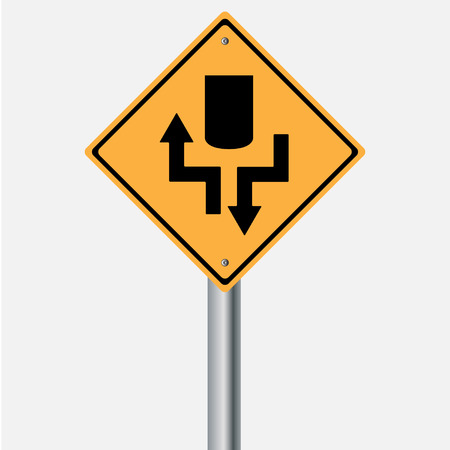 traffic pole: Traffic sign . highway stat
