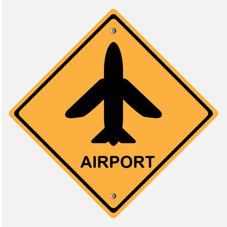 motorist: Traffic sign . airport