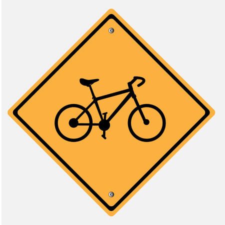 danger ahead: Traffic sign . bicycle Illustration