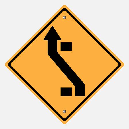 motorist: Traffic sign . change lanes  sign