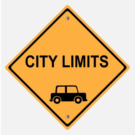 motorist: CITY LIMITS REDUCE SPEED TRAFFIC   SIGN