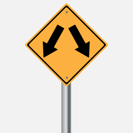 traffic pole: Traffic sign . Keep Left Keep Right