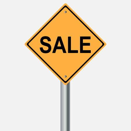 motorist: sale sign . traffic pole