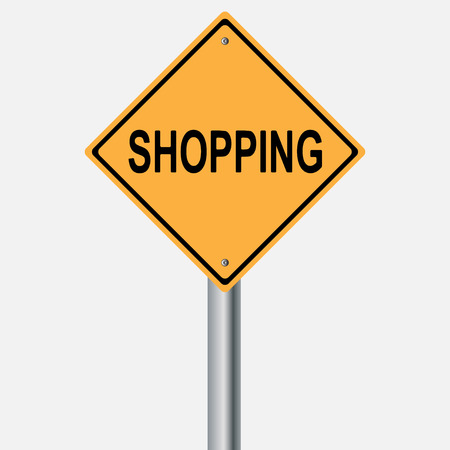traffic pole: shopping sign . traffic pole