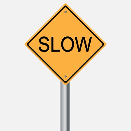 traffic pole: Traffic sign . slow Illustration