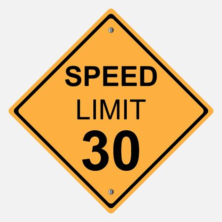 motorist: Traffic sign . SPEED LIMIT 30  SIGN