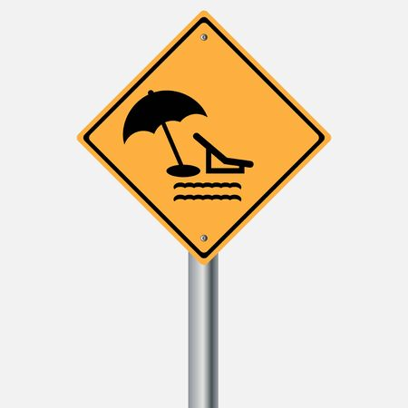 traffic pole: Traffic sign . summer take a break , rest sea