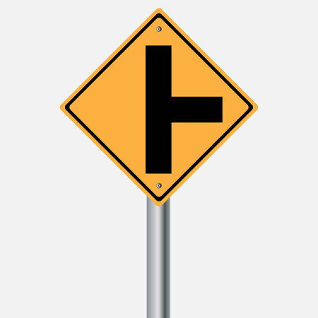 traffic pole: Traffic sign . junction Illustration