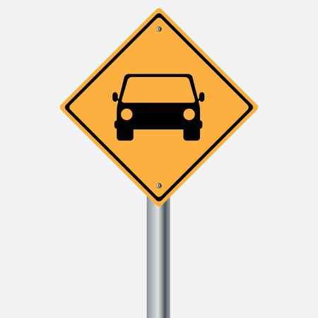 traffic pole: Traffic sign . car vehicles sign Illustration