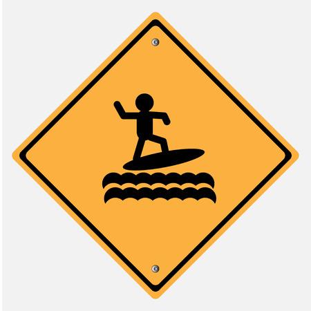 windsurf: Señal de tráfico. Mar Tabla de Surf, Windsurf Vectores