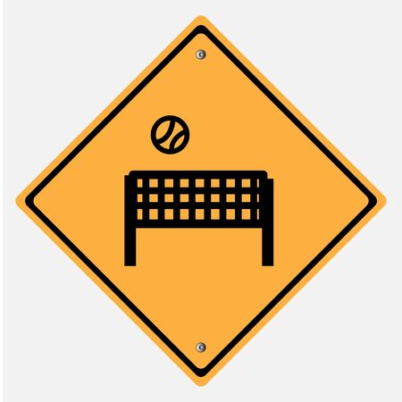 motorist: Traffic sign .  sport play field