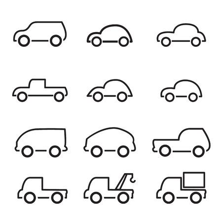 auto lijn icoon