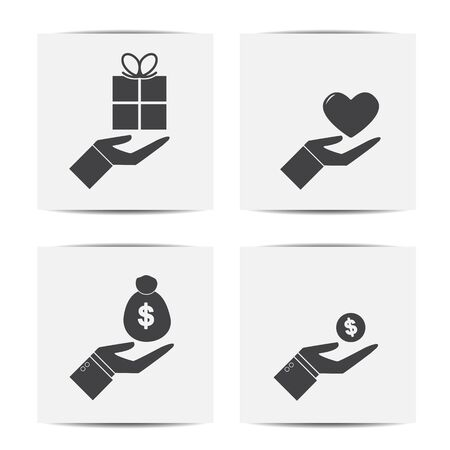 give: give  silhouette  icon  Illustration