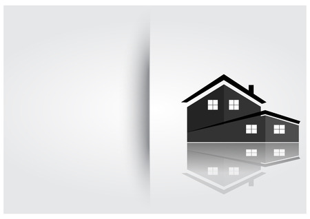 building lot: House Template icon design Illustration