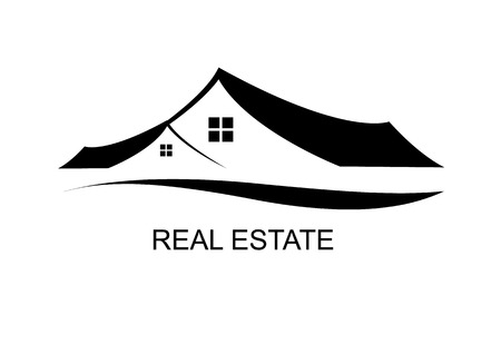 logo house: Huis Real Estate logo of pictogram ontwerp