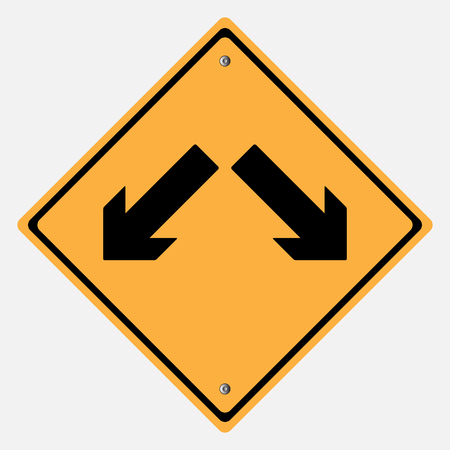 traffic signs: Traffic sign . Keep Left Keep rigth