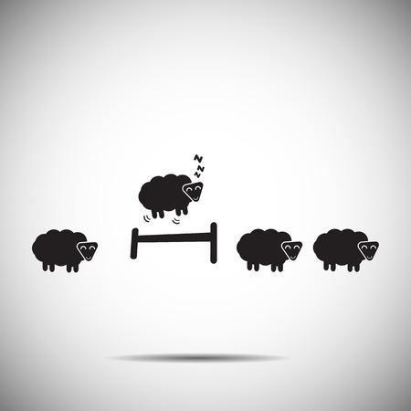 スリープ アイコン羊