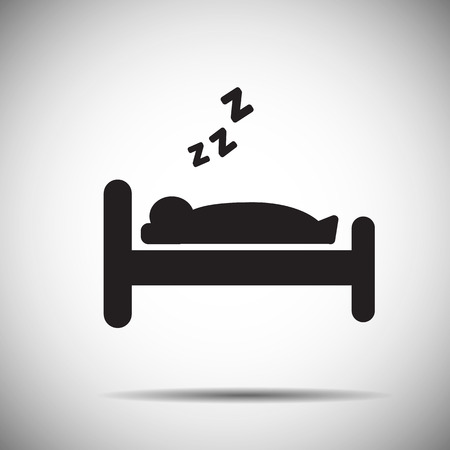 people sleeping: Sleep icon Illustration