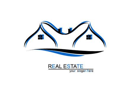 house logo: House blue logo design