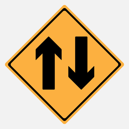 two way: Two Way  Warning Sign