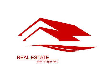 赤の家の設計  イラスト・ベクター素材